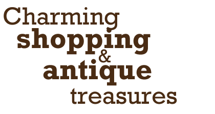 charming shopping & antique treasures