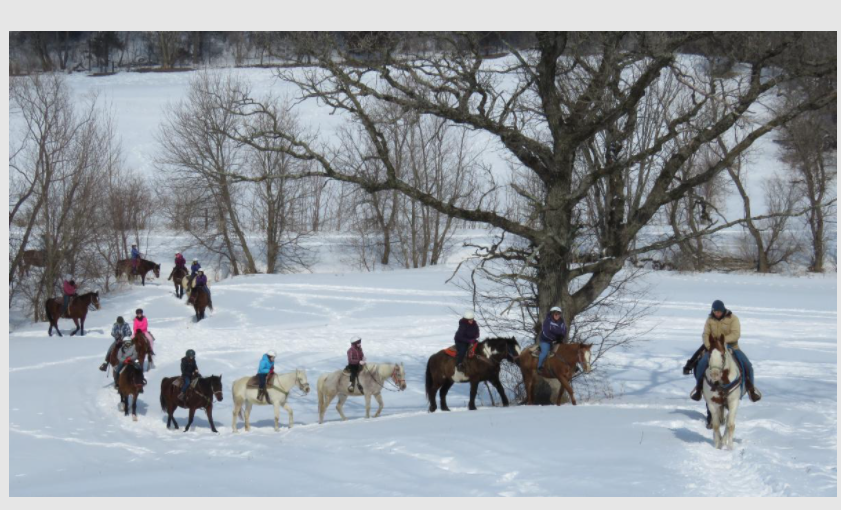 Winter Ride at White Pines Ranch