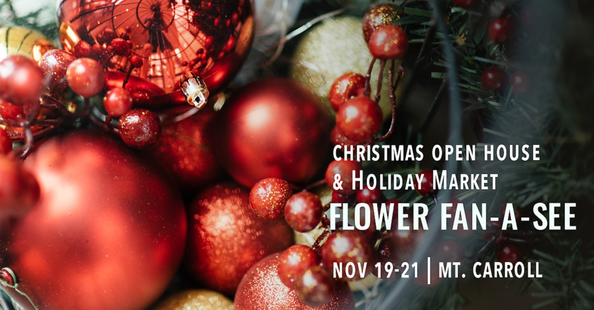 Flower Fan-A-See Christmas Open House & Holiday Market