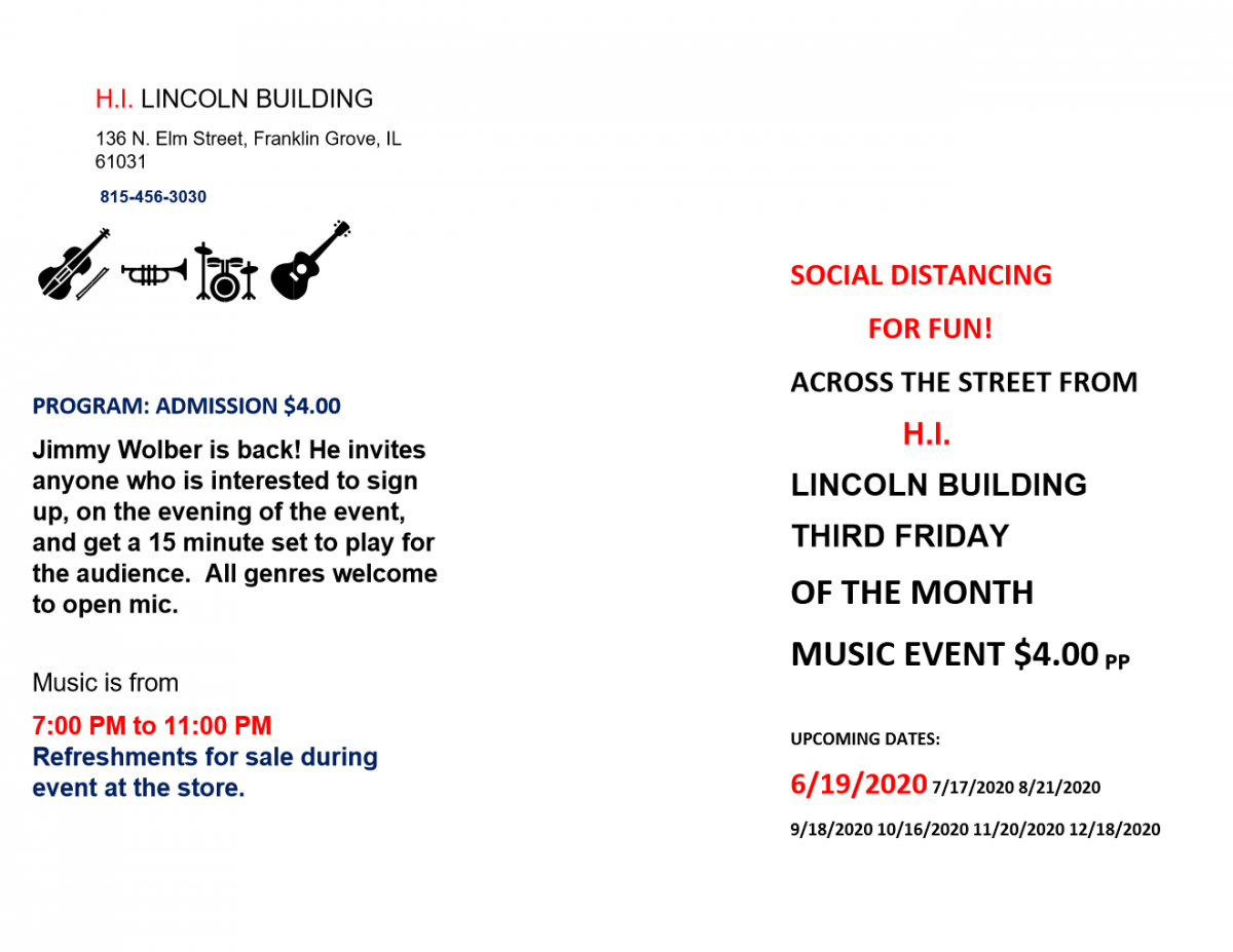 3rd FRIDAYS OPEN MIC AT H.I. LINCOLN BUILDING