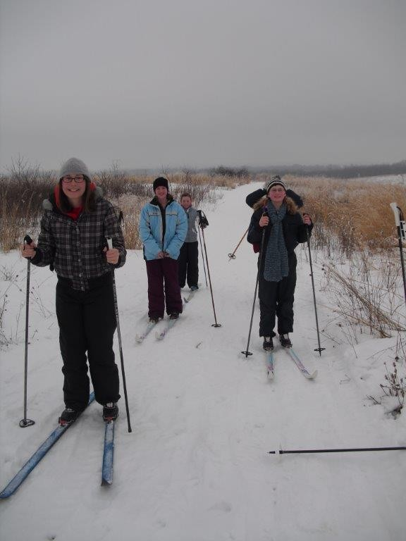 Byron Forest Preserve Guided Cross Country Night ski outing