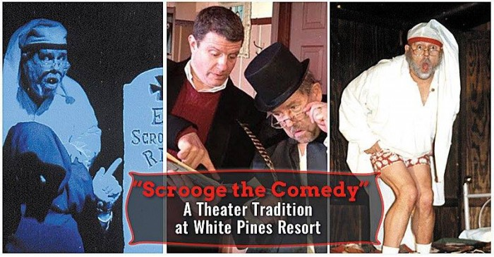 Scrooge the Comedy at White Pines Playhouse