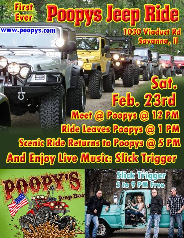 Jeep Ride & Live Music at Poopy's