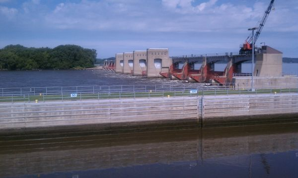 Lock & Dam 13 on the Mississippi River