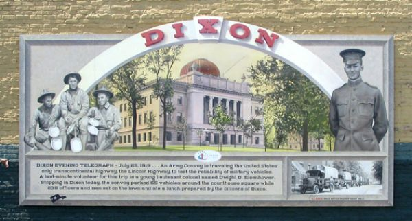 Dixon Lincoln Highway Interpretive Mural