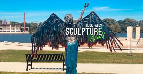 Celebrate Art on the Rock Falls Sculpture Walk