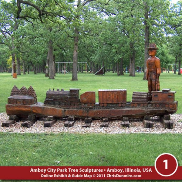 Amboy City Park Wood Carvings