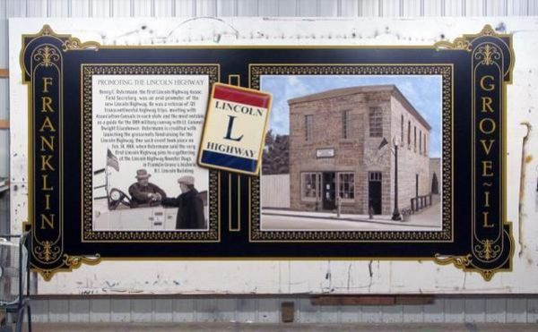 Franklin Grove Lincoln Highway Interpretive Mural